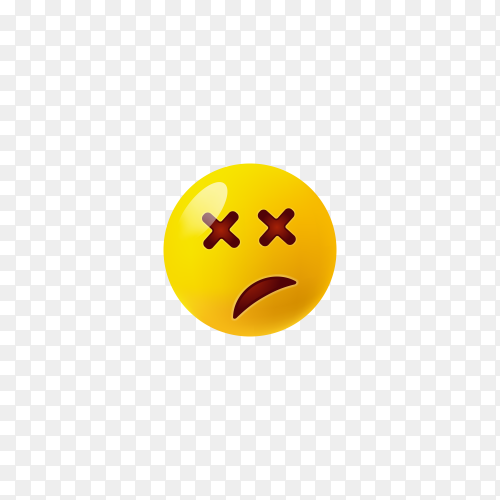 Smirking Face Emoji on transparent background PNG