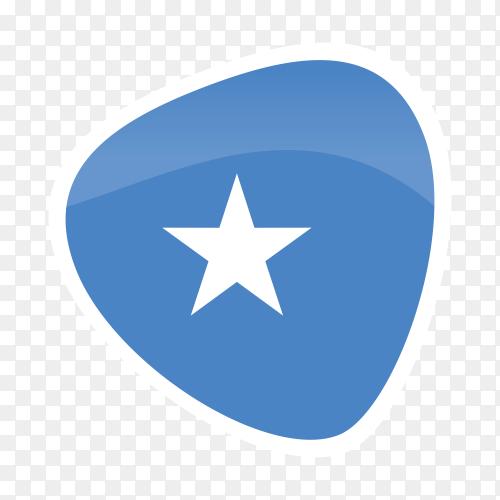 Somalia flag icon on transparent background PNG