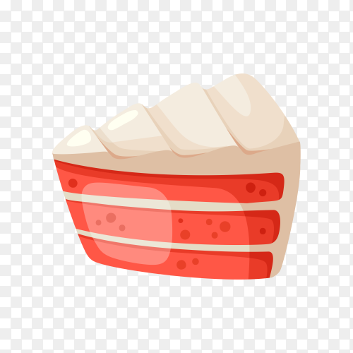 Sweet cake illustration on transparent background PNG
