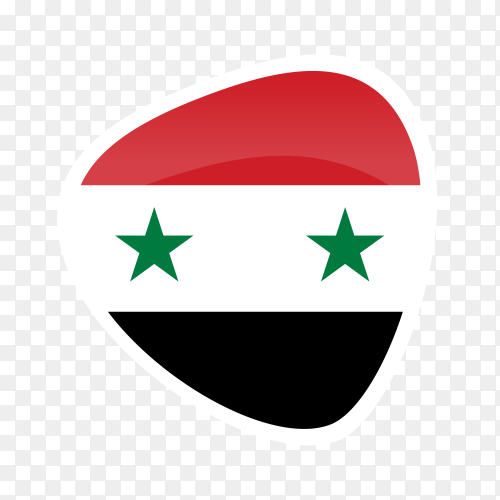 Syria flag icon on transparent background PNG