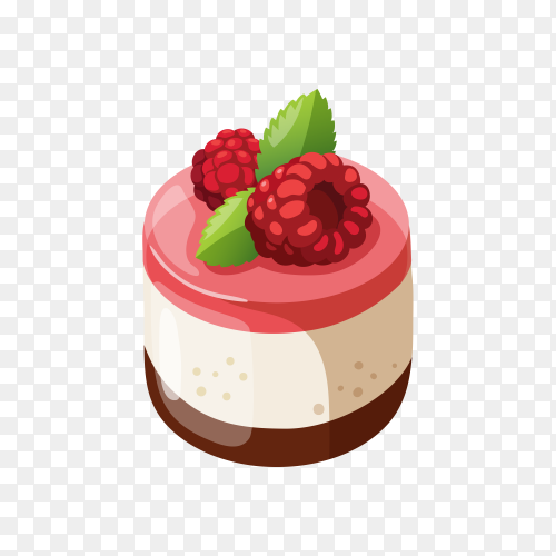 Tasty cake isolated on transparent background PNG