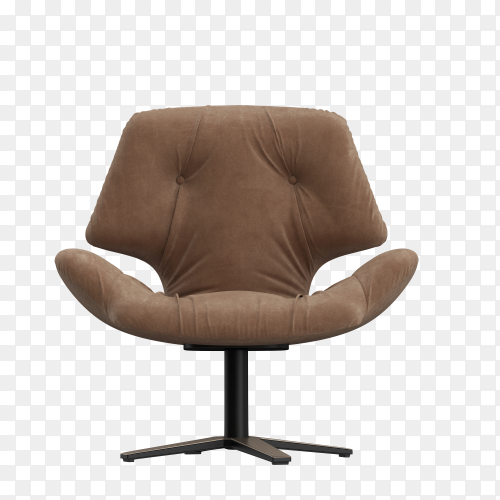 This is a comfort chair for relax on transparent background PNG