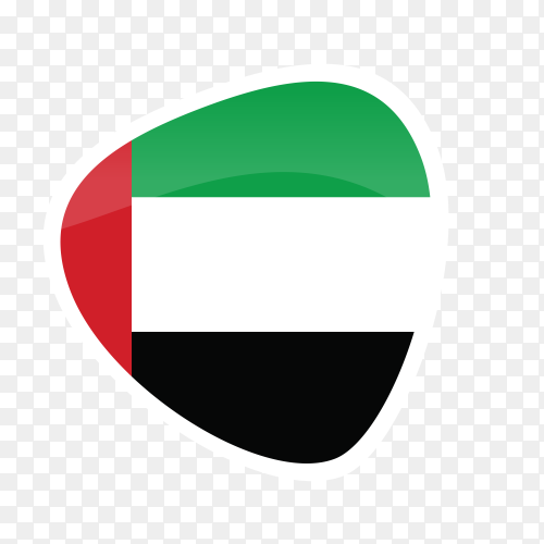 U.A.E flag icon on transparent background PNG