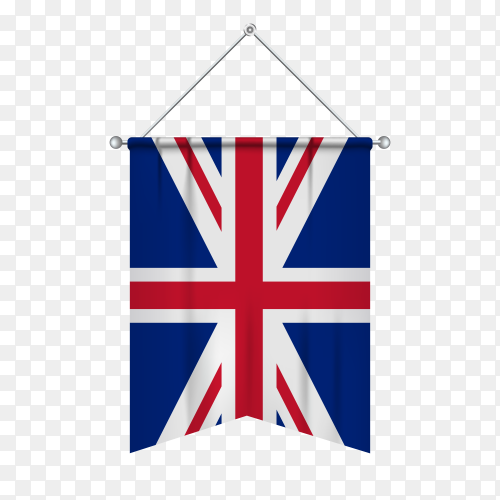 United kingdom flag isolated on transparent background PNG