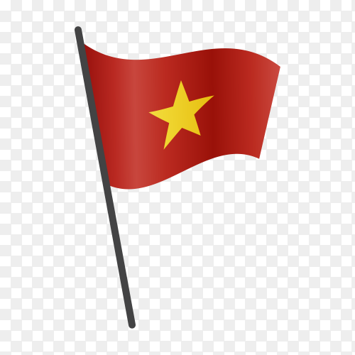 Vietnam flag isolated on transparent background PNG