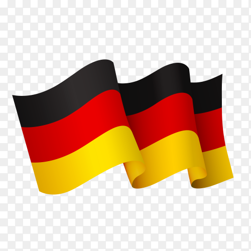 Waving Germany flag icon isolated on transparent background PNG