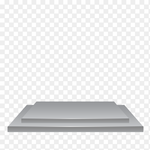 White podium design on transparent background PNG