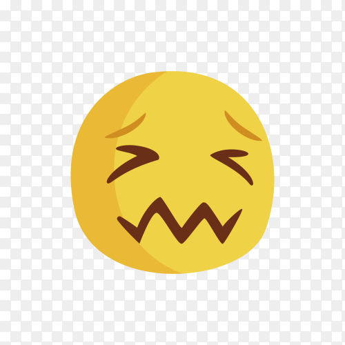 Woozy Face Emoji Clipart PNG