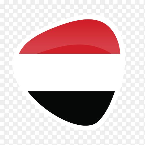 Yemen flag icon on transparent background PNG