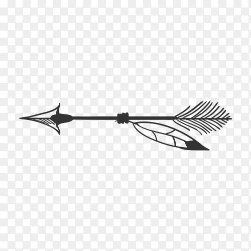 American Indian arrow icon isolated on transparent background PNG