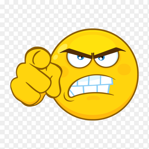 Angry emoji face on transparent background PNG