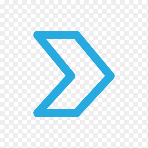 Arrow icon in blue color on transparent background PNG