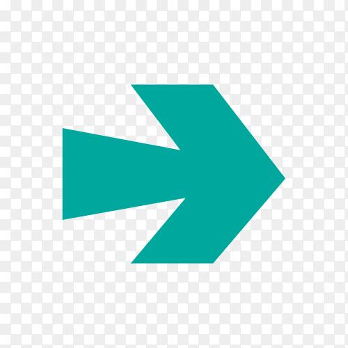 Arrow icon in flat design premium vector PNG