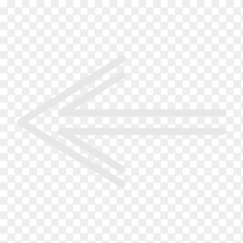 Arrow sign icon on transparent PNG