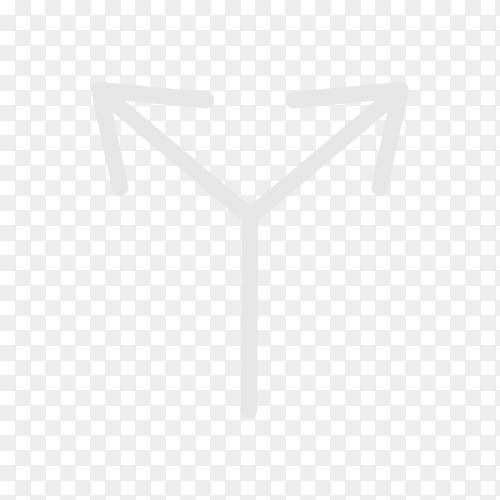 Arrow sign icon on transparent background PNG