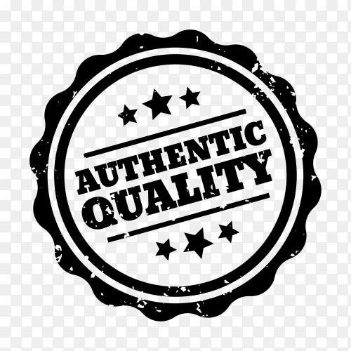 Authentic quality Sticker illustration on transparent background PNG