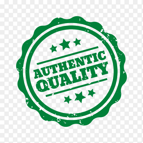 Authentic quality Sticker on transparent background PNG