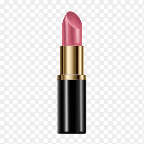 Beautiful lipstick isolated on transparent background PNG
