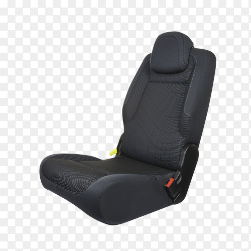 Black car seat on transparent background PNG