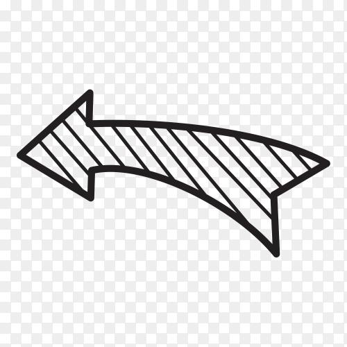 Black doodle arrow Clipart PNG