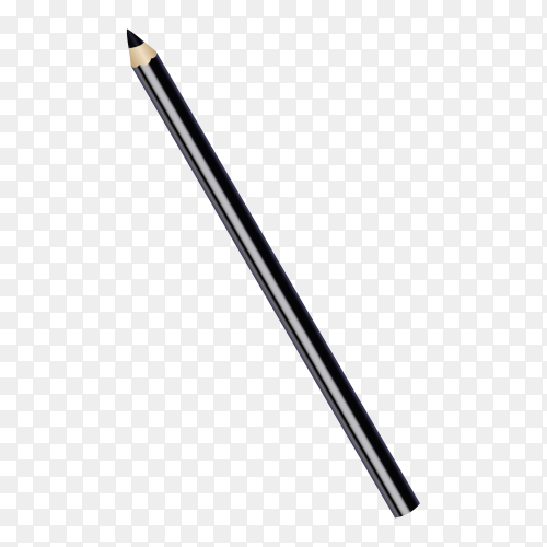 Black pencil for eyes on transparent background PNG