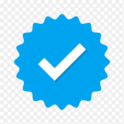 Blue check mark sign illustration on transparent background PNG
