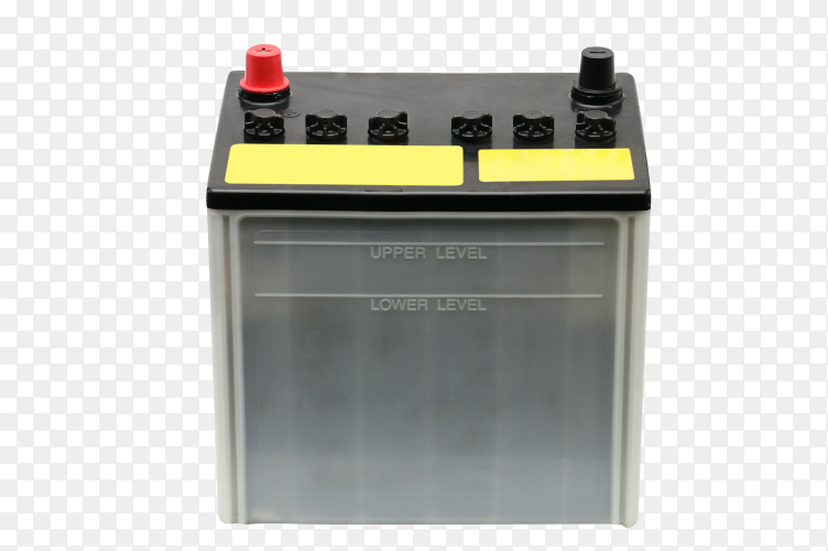 Car battery on transparent background PNG