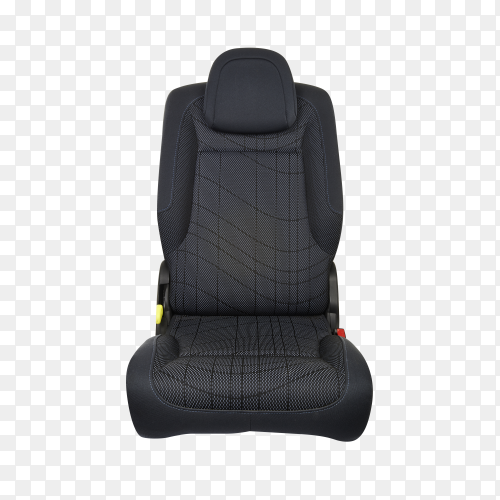 Car seat isolated on transparent background PNG
