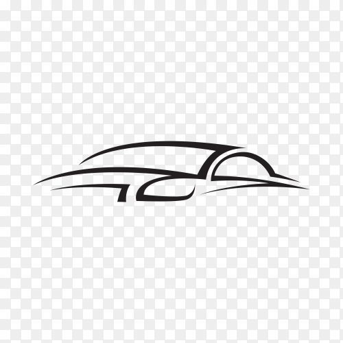 Car silhouette icon on transparent background PNG