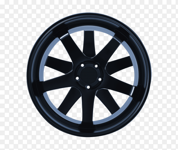 Car wheel isolated on transparent background PNG