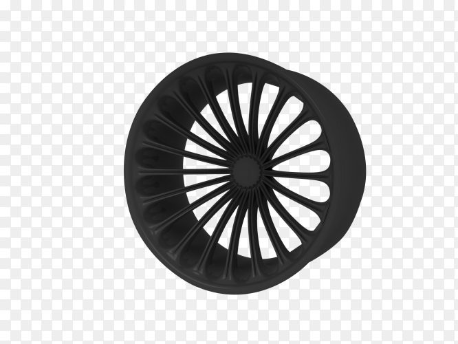 Car wheel rims isolated on transparent background PNG