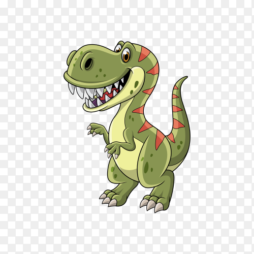 Cartoon dinosaur isolated on transparent background PNG