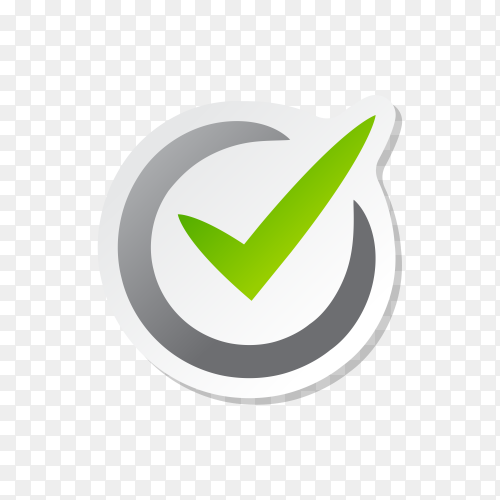 Check Mark Isolated Icon on transparent background PNG