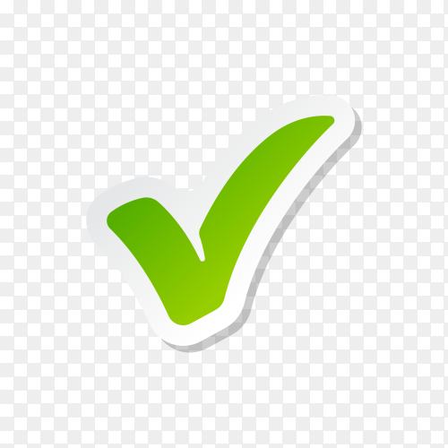 Check Mark Isolated Icon premium vector PNG
