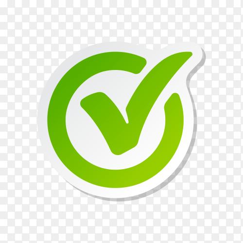 Check Mark Isolated Icon. Checklist button icon. Check mark, tick vector icon. Check mark Icon premium vector PNG