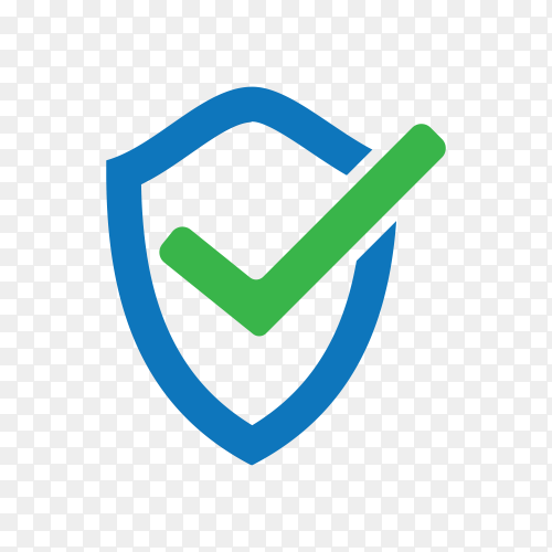 Check mark approved icon on transparent background PNG