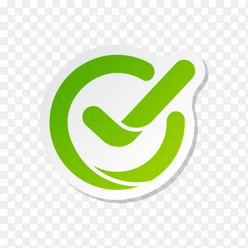 Check mark buttons icon symbol on transparent background PNG