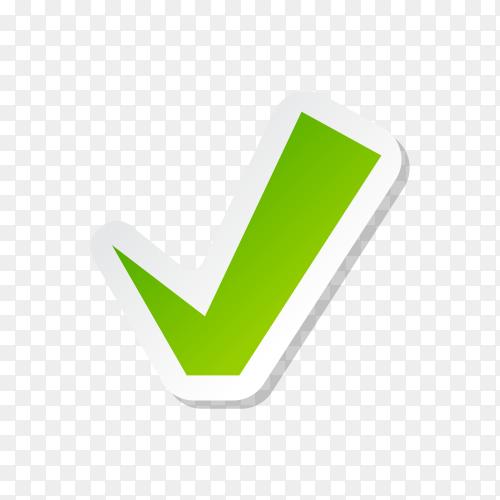 Check mark buttons icon symbol premium vetor PNG