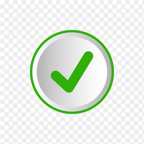 Check mark icon symbol premium vector PNG