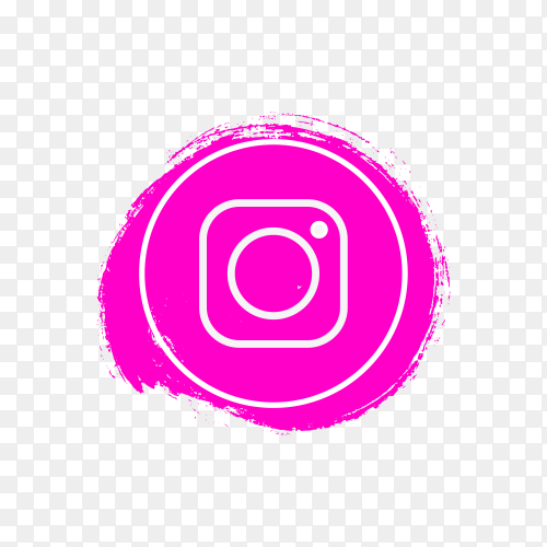 Circle Instagram icon design on transparent background PNG
