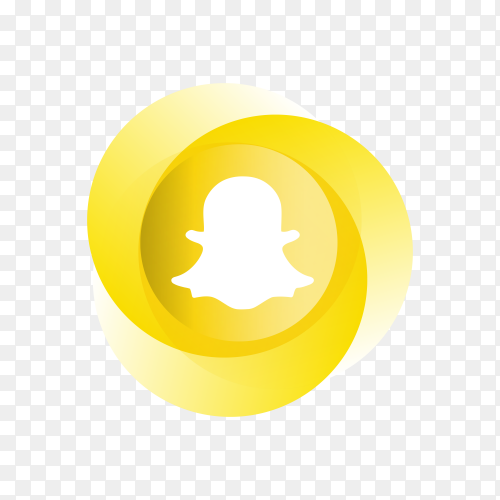 Circle Snapchat icon design on transparent background PNG