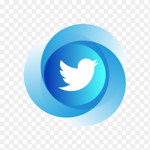 Circle Twitter icon design on transparent background PNG