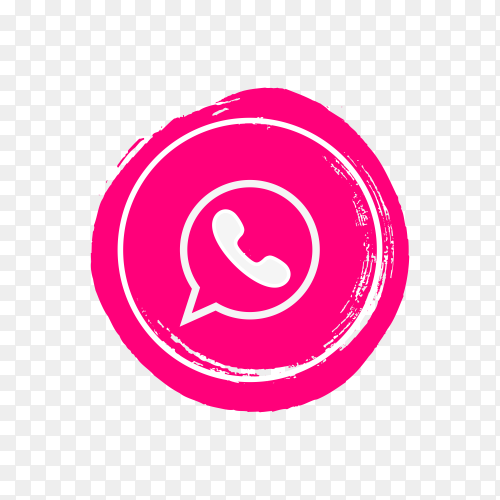 Circle Whatsapp icon design on transparent background PNG