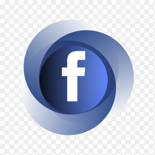 Circle Facebook icon design on transparent PNG