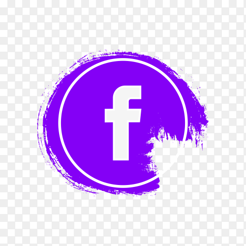 Circle Facebook icon design on transparent background PNG