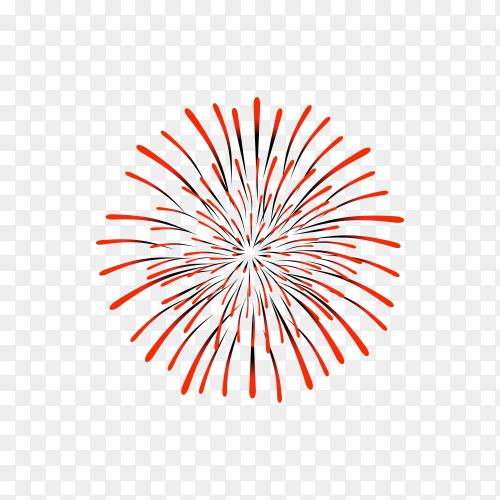 Colorful firework illustration on transparent background PNG