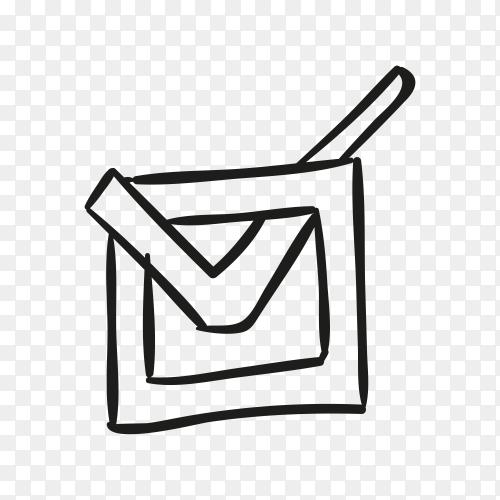 Correct button icon. Check mark in box sign premium vector PNG