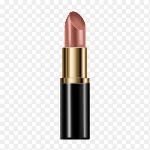 Cosmetic Lipstick for face beauty on transparent background PNG