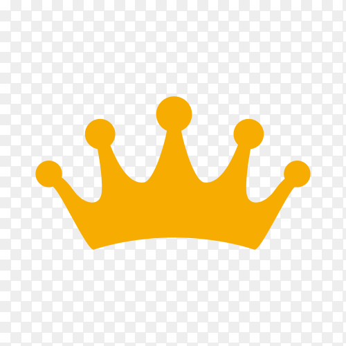 Crown icon design on transparent background PNG