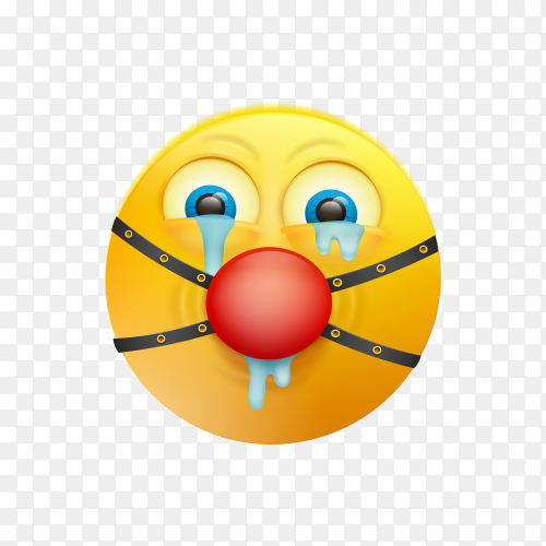Cute funny emoji face on transparent background PNG